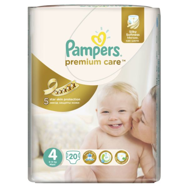 Pampers Бебешки пелени Premium Care Small Pack Maxi р-р 4 /8-14кг/  20 бр 0202447